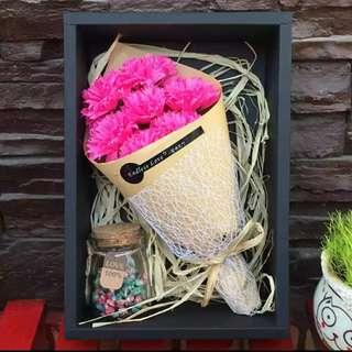 母親節康乃馨香皂肥皂花束禮盒創意生日小禮物