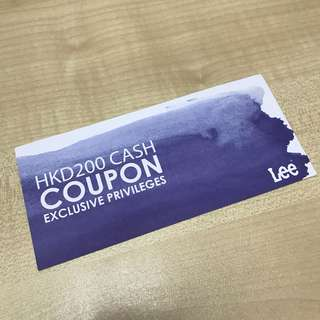 Lee Cash Coupon $200
