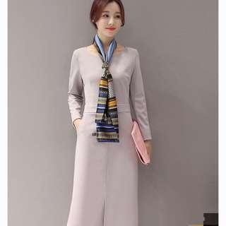 Simple Pocket Slit Dress