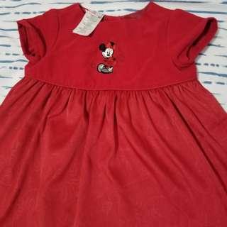 Disnep Red baby dress 9-12months