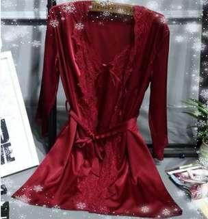 PREMIUM Lingerie piyama kimono set dress babydoll robe