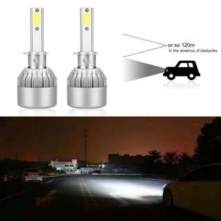 C6 LED H1 Bulb Headlight Conversion Kit 72W 7600LM - Headlamp Bulbs 1set