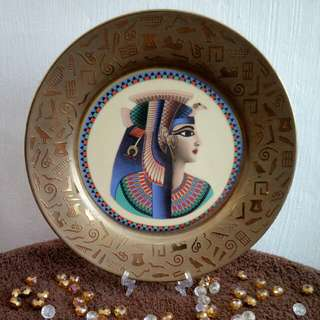 EGYPT Ancient King Vintage Decorative Plate