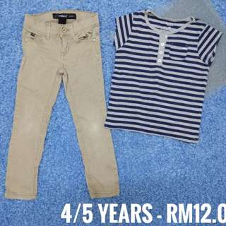 4/5 years - Pants Kids Cloth Shirt Dress Baby Girl Boy