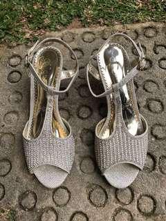 Stones & Pearls Beaded Heels