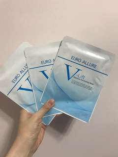 eurobeaute V-lift mask 3塊