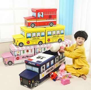 Kids Toy Organizer Box / Stools