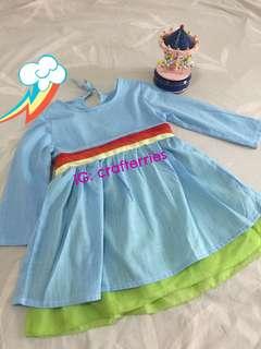 Dress budak biru