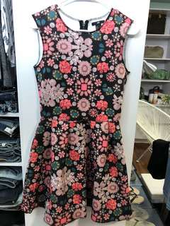 H&M Floral Neoprene Dress - Preloved, Excellent Condition