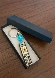 Artisan handmade seashell key chain