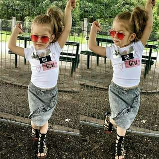 🍀Baby Girl T-shirts+Skirt 2pcs Set🍀