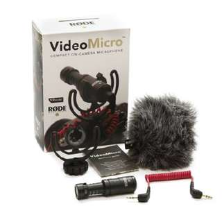 🚚 RODE MICRO VideoMicro Microphone for DSLR and Mirrorless cameras