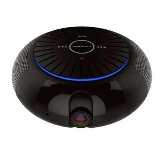 Bluetooth Speaker IP Camera - 2MP CMOS, 1080p Full-HD, 5200mAh Battery, 10m Night Vision, Dual TF Card Support, APP Support (CVAIA-B164)