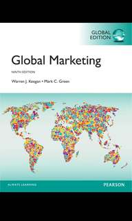 GLOBAL MARKETING 9TH EDITION E-TEXTBOOK