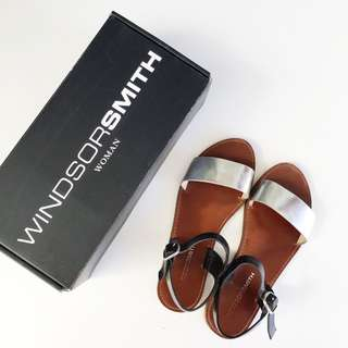WINDSOR SMITH Silver Keira Sandals