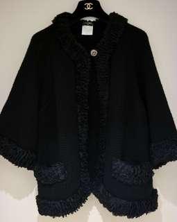 BIG SALE 💲30k🔝 CHANEL CASHMERE BLACK CARDIGAN JACKET COAT 褸 外套