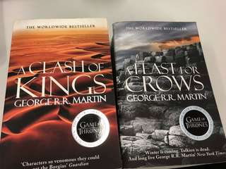 Game of Thrones 2 book set