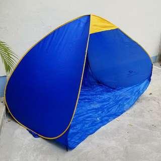 一批全新戶外帳篷, batch of new beach tents, pop up,  藍色,包四枝營釘