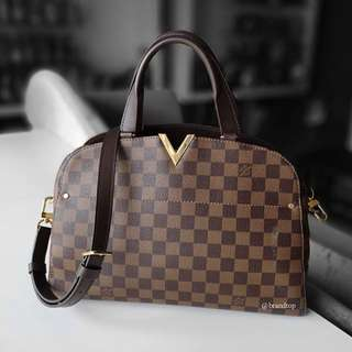 Authentic Louis Vuitton Damier Ebene Kensington Bowling N41505 LV