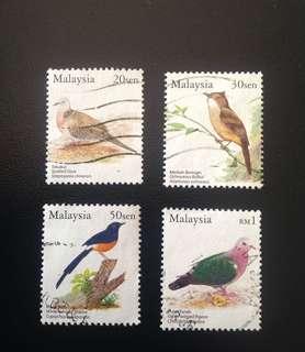 Malaysia 2005 Birds of Malaysia Def Series 4V Used (0335)