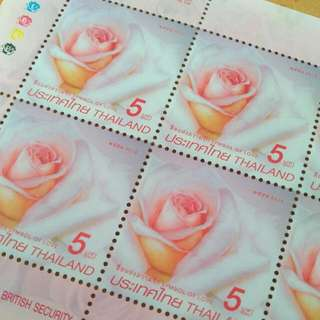Thailand Rose Stamps