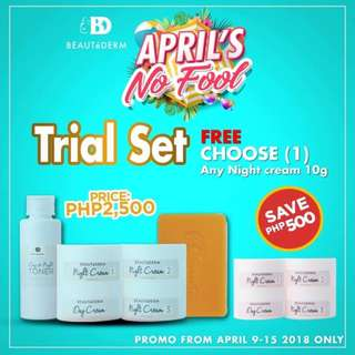 Beautederm Trial Set Promo with FREE Any Night Cream 10g