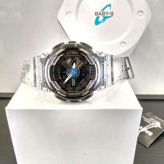 * FREE DELIVERY * Brand New 100% Authentic Casio BabyG Jelly Black Baby G Ladies Watch Baby-G BA110JM 1 BA110JM-1ADR