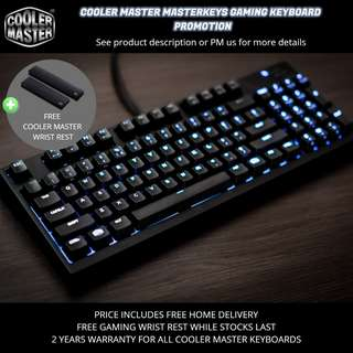 Cooler Master Gaming Keyboard Promotion
