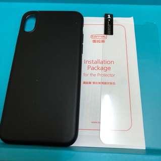 Torras 图拉斯 iphone x 全黑手機套 連手機貼