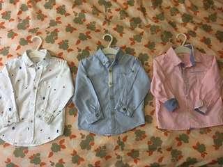 18-24 m shirts x3 ( for Bb boy)
