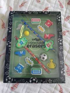 Smiggle collectable erasers [soccer theme]