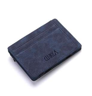 BNIP Men Slim Billfold Wallet PU Leather