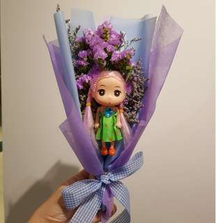 My Princess Dry Flowers Bouquet