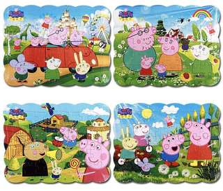 Kid Peppa Pig Thicken Paper Puzzle (1021)
