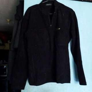 Atasan jaket sweater hitam
