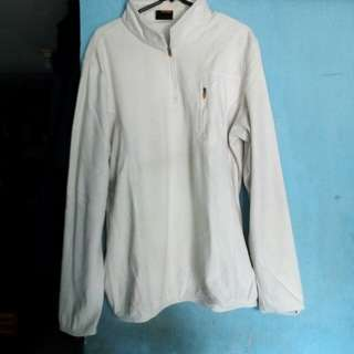 Atasan jaket sweater putih