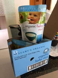 Bellamy's organic 6 x 125g organic baby rice