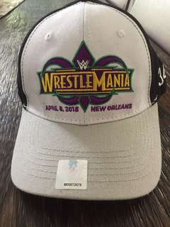 NEW - WWE Wrestlemania 34 official cap + FREE drawstring bag