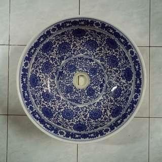 Basin Sink Blue Color Basin Cuci Tangan