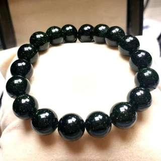 天然開光綠砂石手鏈(具有辟邪的作用和極強的招財、聚財能力) Natural Green Sandstone Bracelet (With the Role of Evil Spirits and Strong Lucky,Rich Ability)