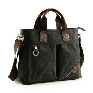Korean canvas mens fashion multipurpose shoulder bag #1028