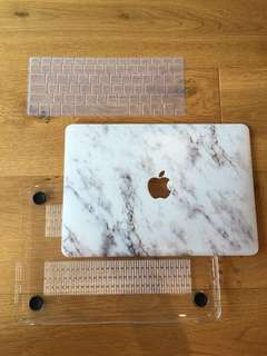 NEW Marble Laptop Macbook pro 13 hardcase + keyboard cover