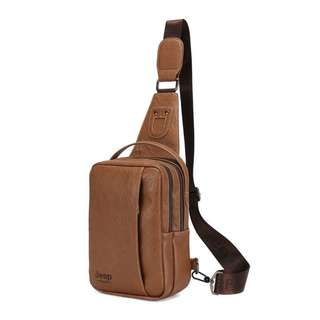 JEEPS mens chest bag quality leather #9098