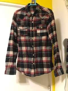 格仔恤衫 95%新 購自日本
