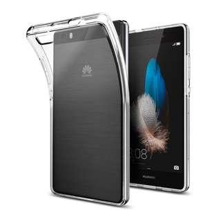 華為HUAWEI P8 Lite ALE-L21, ALE-L02 專用超薄全透明隱形軟套背蓋連保護貼 100%全新