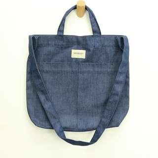 純色牛仔袋 - 購物袋