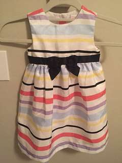 Gymboree Colorful stripe with bow dress