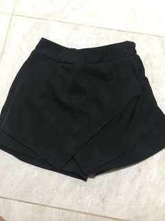 Skort skirt pants black hitam