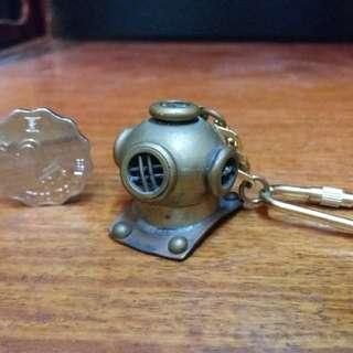 潛水銅頭鎖匙扣~(黃銅造)