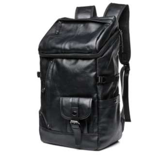 British style big size genuine leather backpack#6516